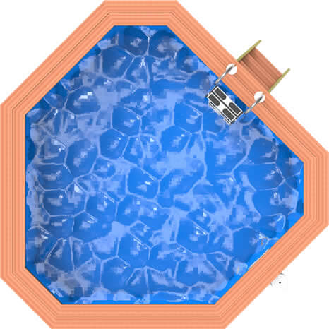 Top down image of a Plastica Wooden Corner Pool