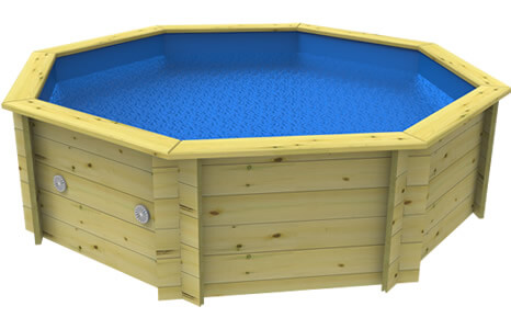 Side on image of a Plastica Wooden Fun Pool