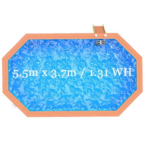 Belgravia Pool shape and dimensions